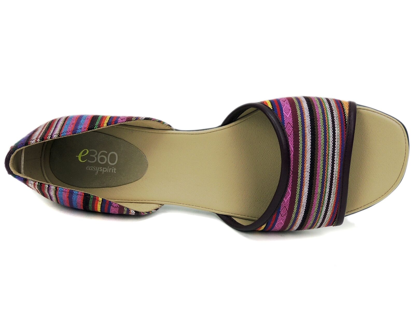 Easy Spirit Women's Kalindi Flat Sandals Pink Pink Pink Multi Striped 8 M 95f67a
