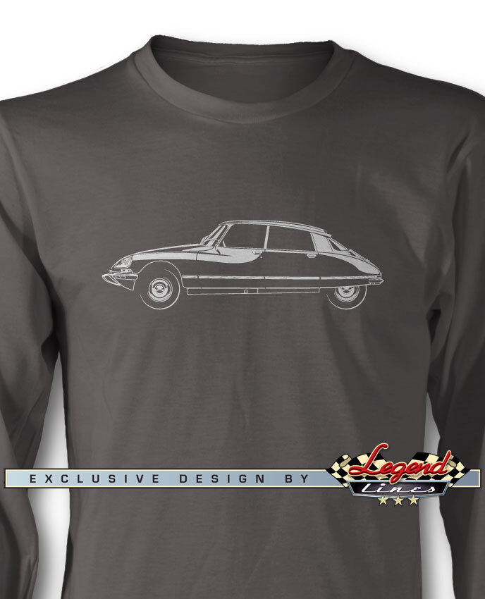Citroen DS ID 1968 - 1976 Sedan Long Sleeves T-Shirt - Multiple colors and Sizes