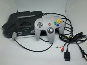 Nintendo-64-N64-System-Console-Official-OEM-Controller-Bundle-NUS-001-USA-Tested