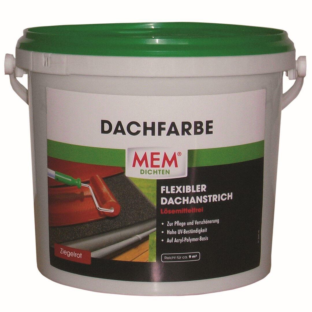 MEM Dachfarbe 5 Liter Dach Farbe Ziegelrot Dachziegelfarbe Dachziegel Farbe