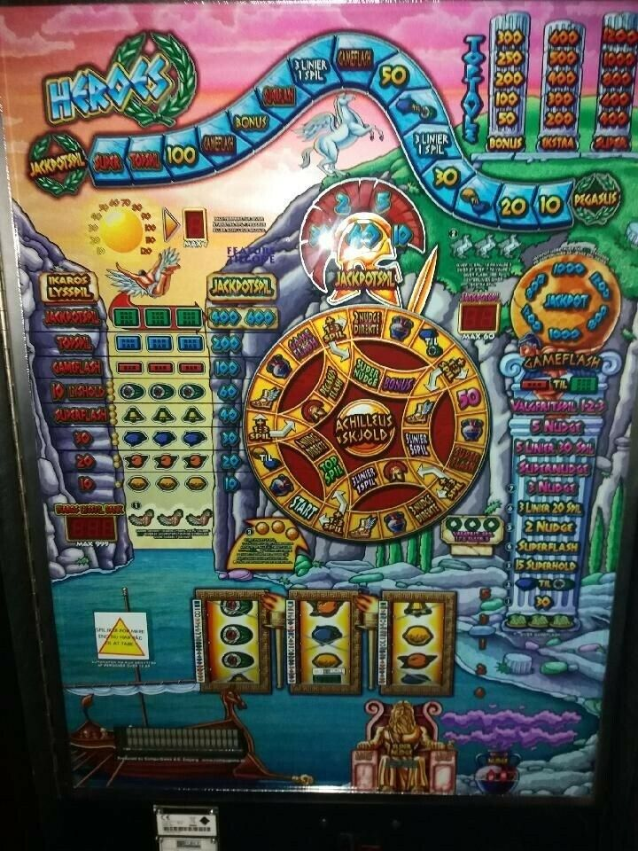 17 stk bla maxi/ mini, spilleautomat, God