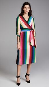 chique rok Rainbow Olivia Faux Dyanna jurk Midi Alice M 8 Wrap Streep Japon HzxRxq6