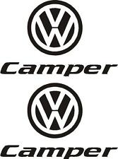 2 X VW CAMPER CARAVAN/MOTORHOME  DECALS STICKERS CHOICE OF COLOURS FAST POSTAGE