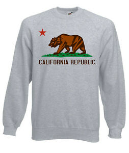 Herren-Sweater-Pullover-California-Republic-west-yeezy-xo-Kanye-Pablo-Gr-S-XXL