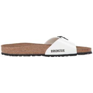 558748b0b50 Image is loading Birkenstock-Madrid-Birko-Flor-Patent-Sandals-Narrow-Women-