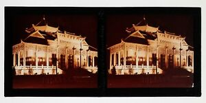 Exposition-coloniale-Paris-1931-Cochinchine-illuminations-Photo-Plaque-Stereo
