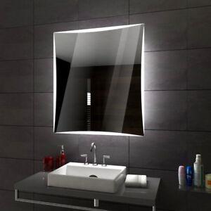 lisbon badspiegel mit led beleuchtung wandspiegel badezimmerspiegel nach mass ebay. Black Bedroom Furniture Sets. Home Design Ideas