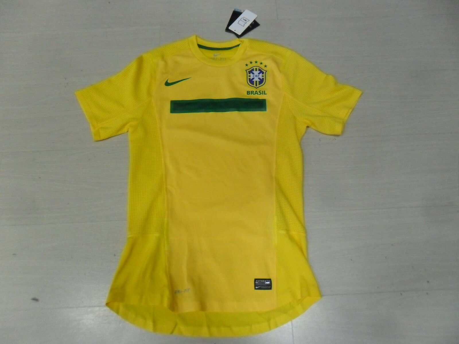 1583 NIKE M BRAZIL BRASIL SHIRT AUTHENTIC T-SHIRT CONFEDERATIONS CUP 2013