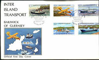 Guernsey 1981 Inter Island Transport FDC First Day Cover #C41885
