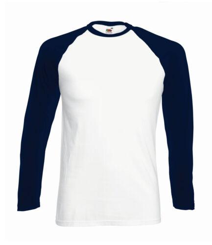 Mens Long Contrast Sleeve Raglan Baseball T-Shirt Top Tee Jersey High Quality