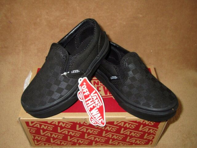 vans checkerboard black mono