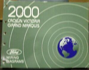 2000 Ford Mercury Electrical Wiring Diagram Manual Crown ...