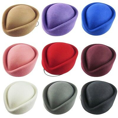 Wool Stewardess Air Hostesses Pillbox Hat Millinery Fascinator Base A040