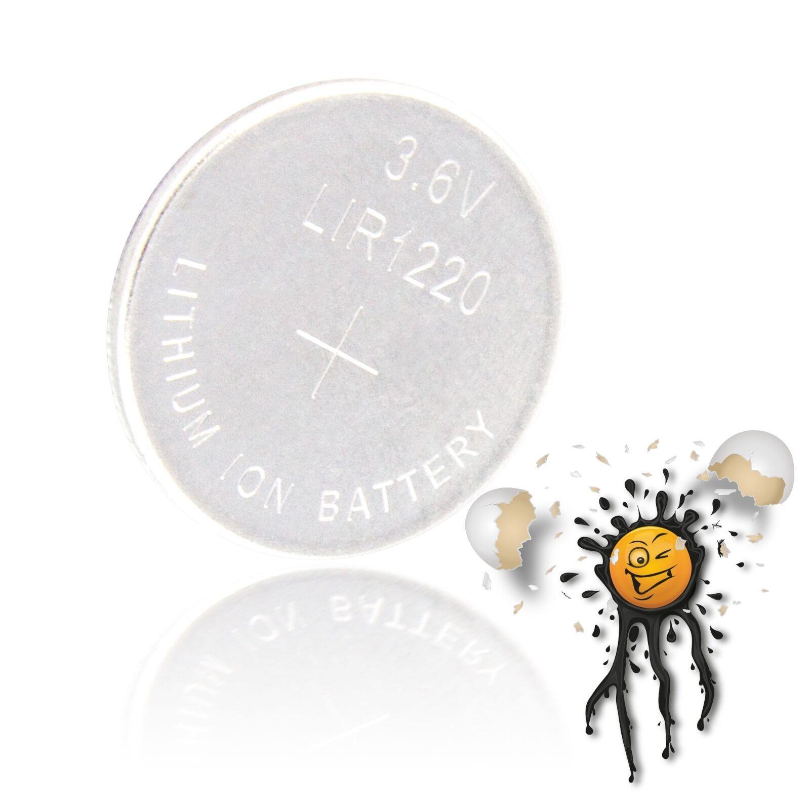 40 St.Neu Original LIR2032 3.6V LI-ION Wiederaufladbar Knopfzelle Batterie