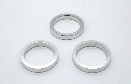 """Sunlite 5mm X 1/"""" Aluminum Bicycle Headset Spacers Silver QTY 3"""