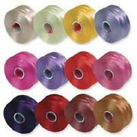 S-lon Beading Thread Mixture 12 Colors Size D Flower Colors, New, Free Shipping