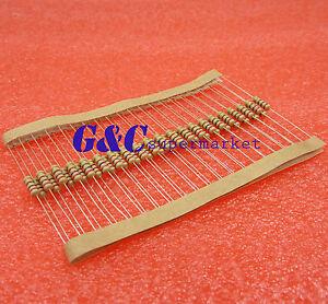 100PCS 1K Ohm 1//4W 0.25W 5/% Carbon Film Resistors Resistance