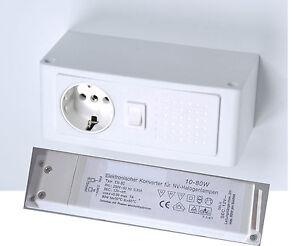 light more powerbox spiegelschrank zubeh r energiebox schalter steckdose trafo ebay. Black Bedroom Furniture Sets. Home Design Ideas