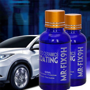 50ml-9H-Mr-Fix-New-Super-Ceramic-Car-Coating-Wax-Hydrophobic-Mirror-NEW-UK