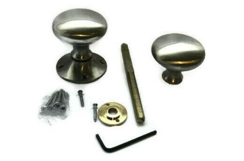 Satin Nickel Victorian Furniture Rim Round Door Knob Set Ball Style