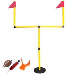 New Goteam Kids Football Goal Post Set Youth Uprights Ball Tee Pump Set 643950473090 Ebay