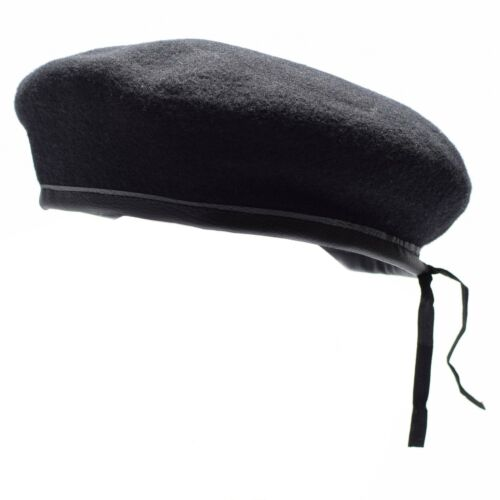 Genuine German army Black beret hat Military command cap wool quality New