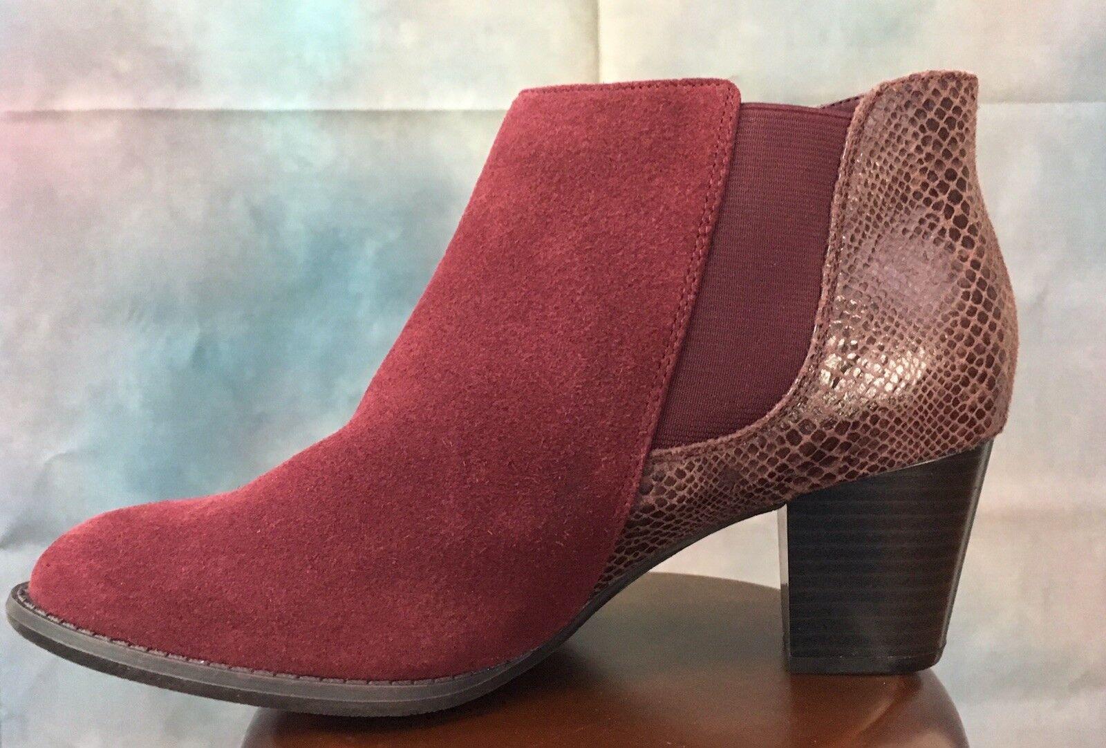 Vionic Merlot - 8.5 botas De Gamuza Nuevo con etiquetas etiquetas con 0019bd
