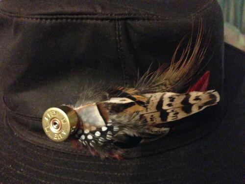 partridge duck hunting jacket tweed Cartridge feather shooting brooch pheasant