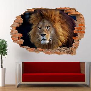 Adesivi Murali 3d Grandi.Dettagli Su Wildlife Grandi Felini Leone Adesivi Murali 3d Arte Murale Poster Decalcomania Room Decor Vy5 Mostra Il Titolo Originale