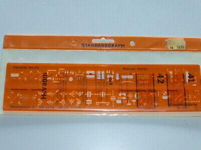 Zeichenschablone STANDARDGRAPH N° 3341 Elektrotechnik I