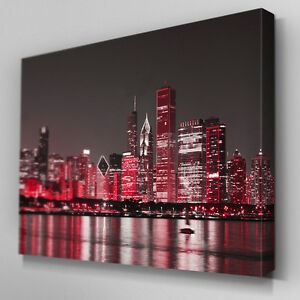 Image Is Loading C343 Red New York City Canvas Wall Art