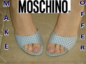 Designer shoes MOSCHINO Prom shoes Wedding shoes Italian shoes Polka ...