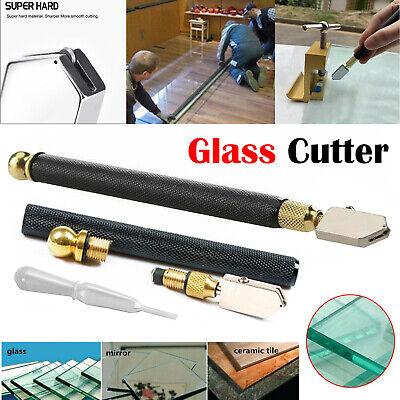 Professional Diamond Antislip Metal Handle Oil Feed Glass Cutting Cutter Tool