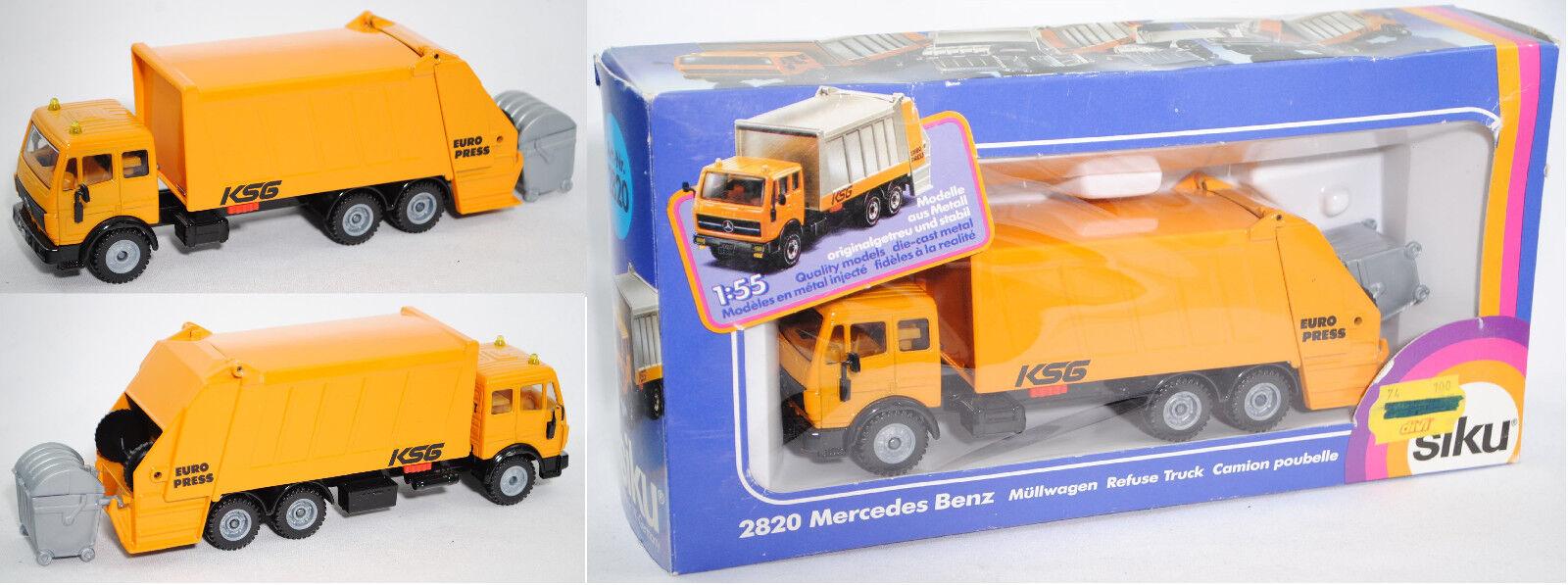 SIKU SUPER 2820 MERCEDES-BENZ SK déchets sammelfahrzeug, benne à ordures, KSG Europress