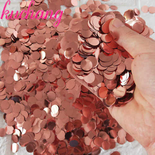 Rose Gold Round Wedding Birthday Hen Night Sprinkles Confetti Table Decor Red