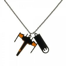 STAR WARS ROGUE ONE BLACK SQUADRON XWING REBEL ALLIANCE PENDANT CHAIN NECKLACE