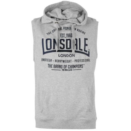 LONSDALE Box Hommes Capuche Manches Sans Capuche Veste Sweatshirt Hoody 247