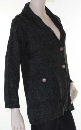 Grey Cardigan Knit Soft Cardi Winter Jumper SUN ROSE Size 14 16 18 20 22
