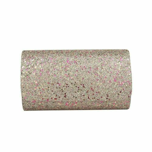 Women wedding shimmer glitter party prom clutch bag purse