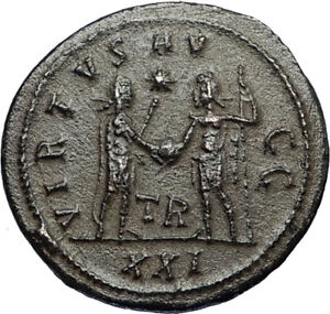 CARINUS-Authentic-Ancient-283AD-Roman-Coin-JUPITER-VICTORY-Tripolis-i67425