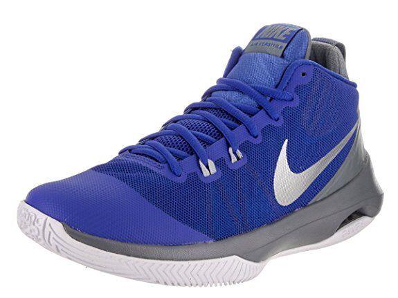 NIKE Men's Air Versitile Nbk Basketball-Shoes 10.5, Sil 14 Color Game Royal/Mtlc Sil 10.5, 91081e
