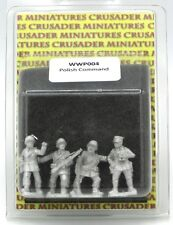 Crusader WWB005 British Infantry Command WWII Officers NCOs HQ Miniatures NIB