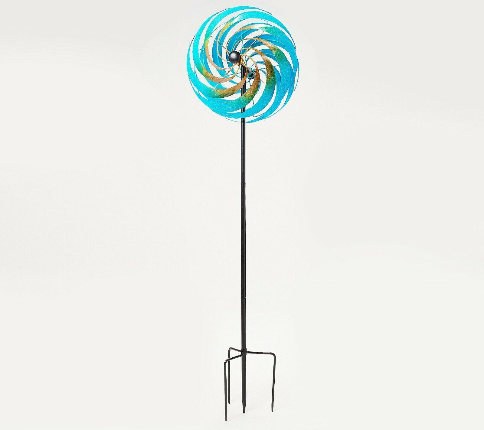 Plow & Hearth Oversized Illusion Swirl Wind Spinner Garden Decor