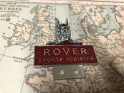 ROVER SPORTS REGISTER OWNER CLUB CAR BADGE Viking Head Special