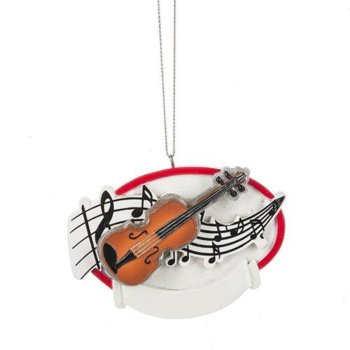 """NEW Midwest CBK 2.5/"""" Violin with Music Notes Christmas Ornament 134797"""