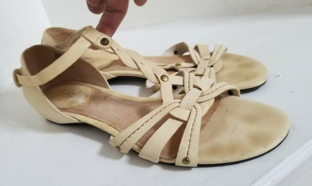16e5332be609 FRYE Yellow Leather Braided Huarache Margot Woven Sandals - Size 9M - FREE  SHIP!