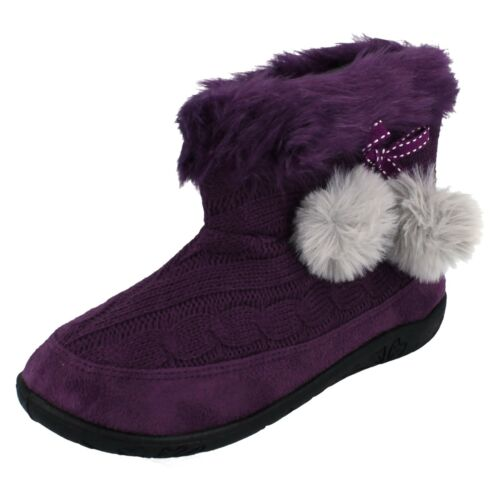 Evie 2E Fit Ladies Padders Bootee Slippers