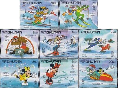 Nuevo Con Goma Original 1988 Walt Disney Per completa Edición Disciplined Bhután 1050-1057