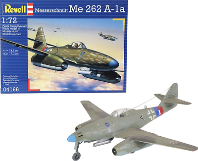 REVELL MESSERSCHMITT Me262 A-1a MODEL KIT 1:72 SCALE 04166