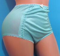 Baby Blue Shiny Metallic High Waist Brief Sissy Girdle Panties Sz M L Xl Xxl
